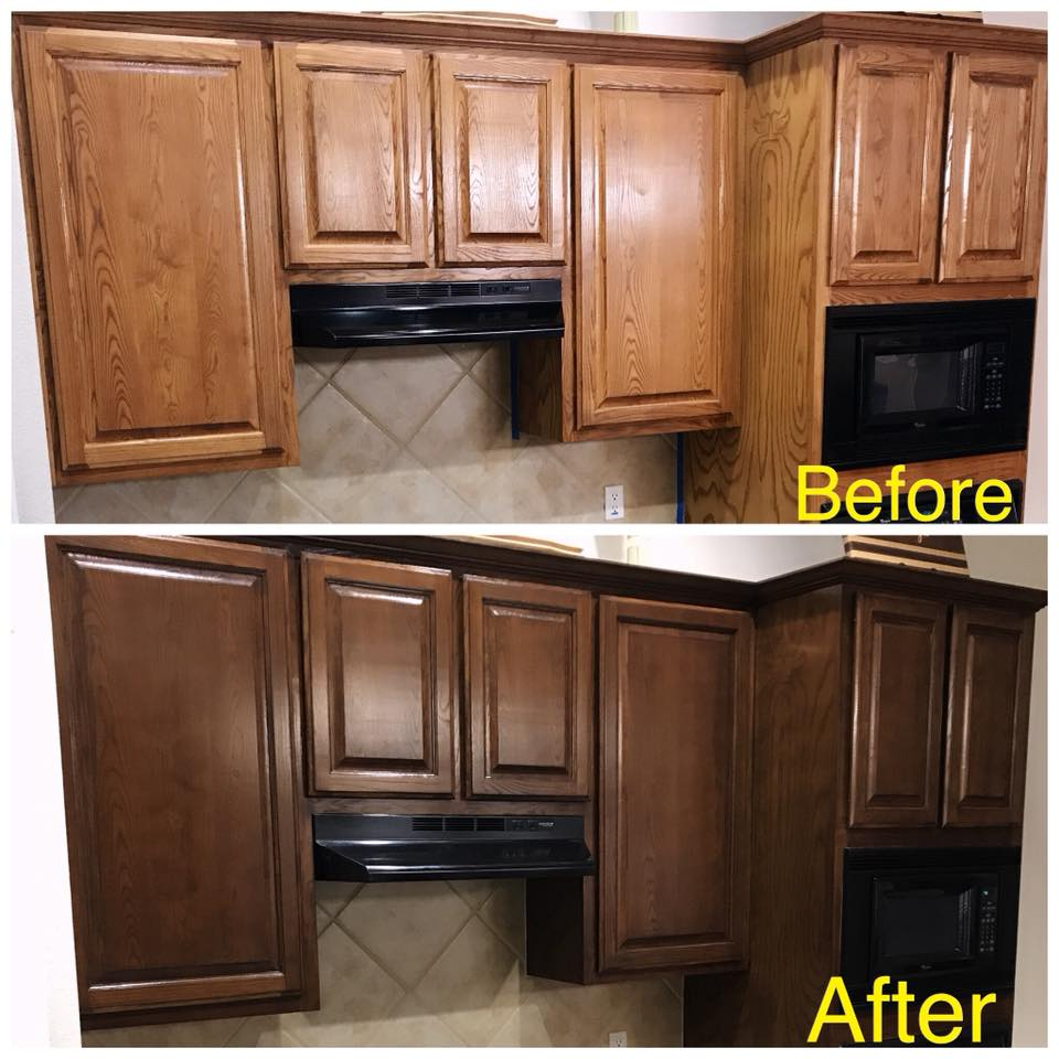 Change The Color Of Your Kitchen Cabinets And Other Woodwork!