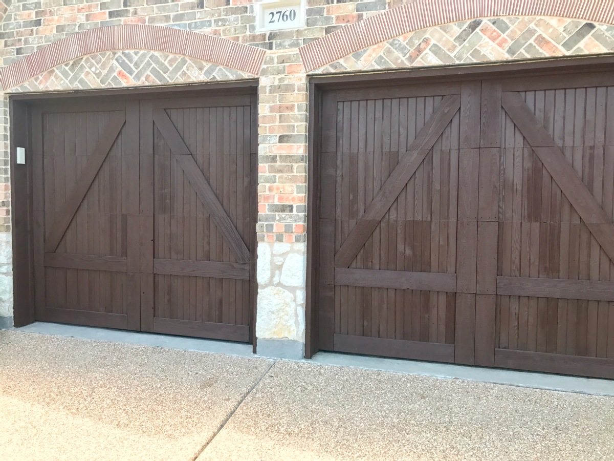 Restain Wood Garage Doors