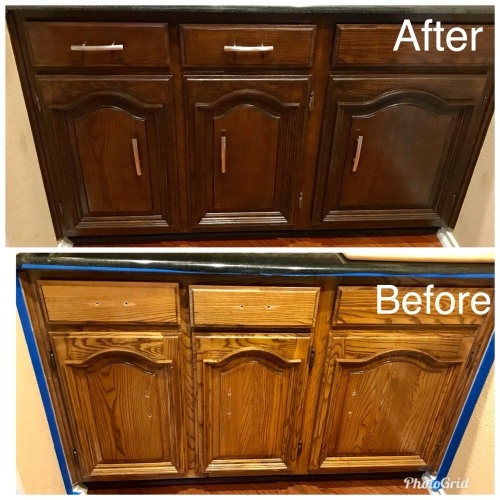 The Home Depot Installed Cabinet Refacing Wood Stained: CABINETS & ALL WOODWORK
