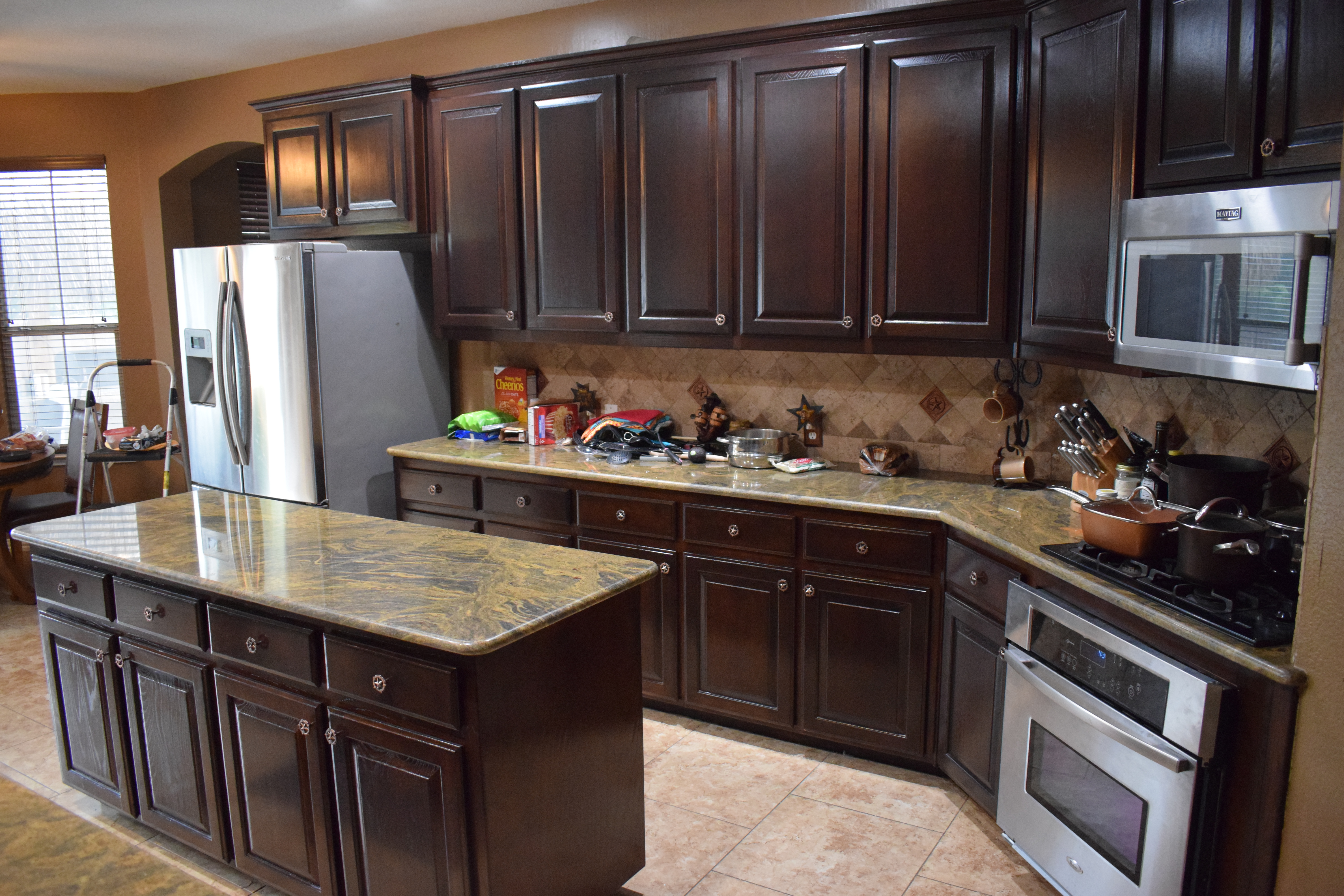 We can change the color of your cabinets without sanding them down to bare wood and without toxic strippers! & gleam guard u2013 REFINISHING